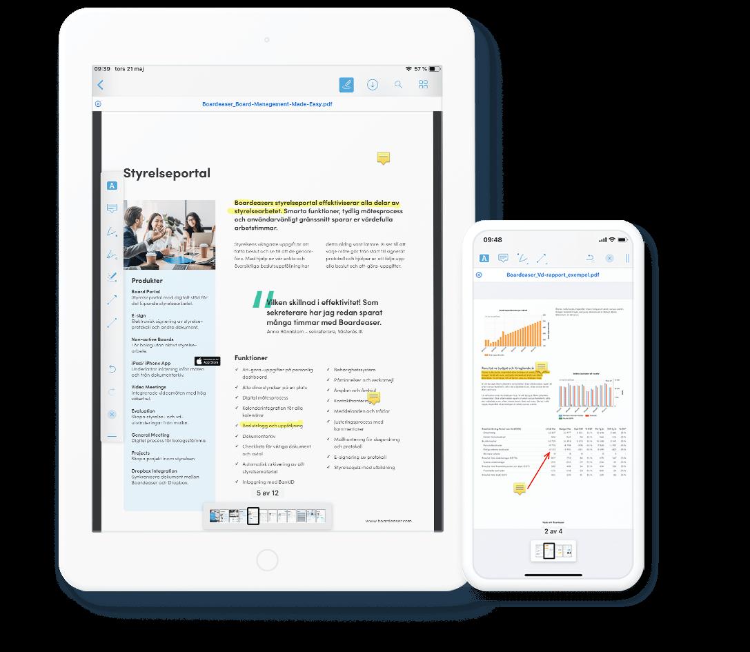 Styrelseportal i iPhone och iPad